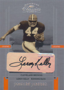 2005 Leroy Kelly Donruss Classics Significant Signatures SILVER #110 football card - Serial no. 69/75