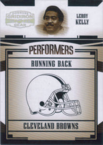2005 Leroy Kelly Donruss Gridiron Gear Performers SILVER Holofoil #P-33 football card - Serial no. 162/250