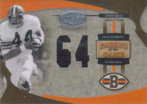 2005 Leroy Kelly Donruss Leaf Certified Materials Fabric of the game DEBUT YEAR #FG-49 football card - Serial no. 38/64