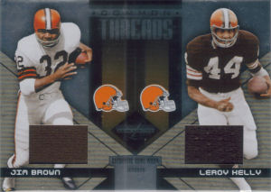2005 Leroy Kelly Donruss Playoff Leaf Limited Common Threads #CT-19 football card - Serial no. 1/25