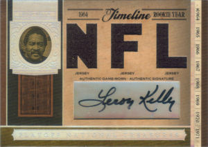 2006 Leroy Kelly Donruss Playoff National Treasures Timeline Materials Signature NFL #TL-LK football card - Serial no. 02/10