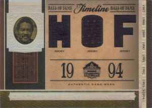 2006 Leroy Kelly Donruss Playoff National Treasures Triple Jersey Hall of Fame #TL-LK football card - Serial no. 05/13