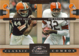 2008 Leroy Kelly Donruss Classics Classic Combos SILVER #CC-6 football card - Serial no. 220/250