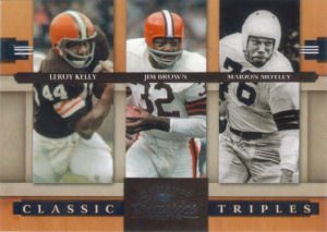 2008 Leroy Kelly Donruss Classics Classic Triples #CT-2 football card - Serial no. 0910/1000