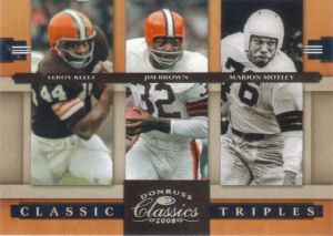 2008 Leroy Kelly Donruss Classics Classic Triples Silver Holofoil #CT-2 football card - Serial no. 092/250