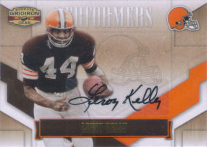 2008 Leroy Kelly Donruss Gridiron Gear Performers AUTOGRAPH #P-29 football card - Serial no. 006/100