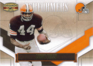 2008 Leroy Kelly Donruss Gridiron Gear Performers GOLD #P-29 football card - Serial no. 052/500