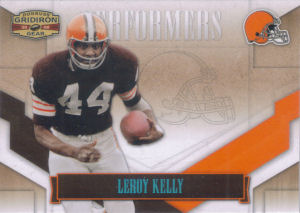 2008 Leroy Kelly Donruss Gridiron Gear Performers PLATINUM #P-29 football card - Serial no. 11/25