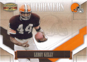 2008 Leroy Kelly Donruss Gridiron Gear Performers Silver Holofoil #P-29 football card - Serial no. 171/250