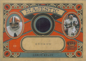 2010 Leroy Kelly Panini Crown Royale Majestic MATERIALS #23 football card - Serial no. 23/25