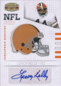 2010 Leroy Kelly Panini Gridiron Gear NFL Pro Gridiron SIGNATURE #32 football card - Serial no. 38/50