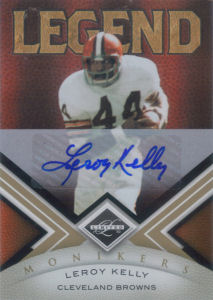 2010 Leroy Kelly Panini Legend Limited Monikers Autographs GOLD #138 football card - Serial no. 17/25