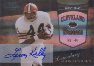 2010 Leroy Kelly Panini Playoff Legendary Contenders AUTOGRAPHS #21 football card
