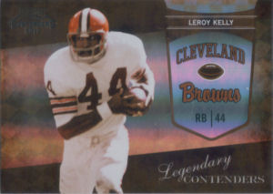2010 Leroy Kelly Panini Playoff Legendary Contenders BLACK #21 football card - Serial no. 04/50