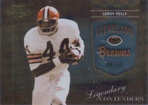 2010 Leroy Kelly Panini Playoff Legendary Contenders GOLD #21 football card - Serial no. 067/100