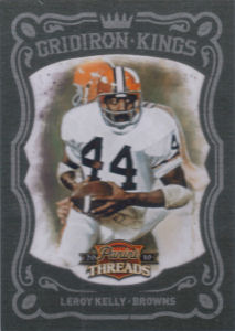 2010 Leroy Kelly Panini Threads Gridiron Kings Green #47 football card - Serial no. 12/25
