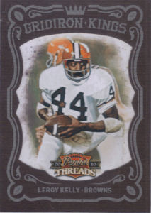 2010 Leroy Kelly Panini Threads Gridiron Kings Red #47 football card - Serial no. 054/100