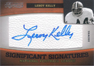 2011 Leroy Kelly Panini Timeless Treasures Significant Signatures #14 football card - Serial no. 34/35